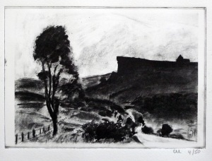 Print of Burbage Charcoal